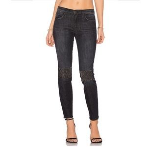 Current/Elliot The Patched Stiletto Skinny Jeans